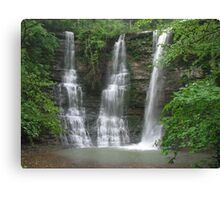 Twin Falls With an Added Touch, Arkansas Buffalo Wilderness Area Canvas Print