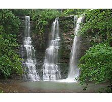 Twin Falls With an Added Touch, Arkansas Buffalo Wilderness Area Photographic Print