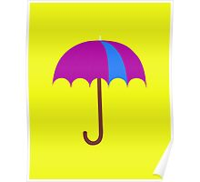Bright Umbrella Poster
