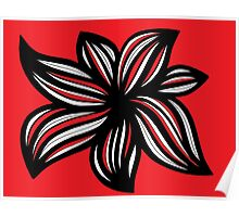 Brubeck Abstract Expression Red White Black Poster