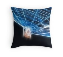 Garden Spider Fractalius Throw Pillow