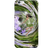 Nature spirits on flowers iPhone Case/Skin