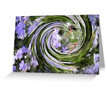 Nature spirits on flowers Greeting Card