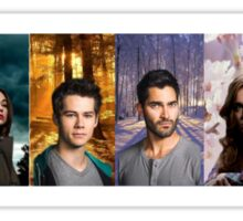 Teen Wolf Cast Into The Woods Sticker