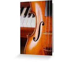 Violin and Piano Greeting Card