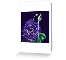 Lisianthus flower and buds Greeting Card