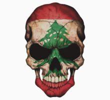 Lebanese Flag Skull by Jeff Bartels