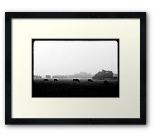 grass always tastes better when you eat it going THIS direction... Framed Print