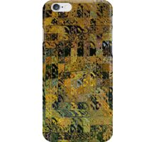 Abstract Golden Blocks Mosaic iPhone Case/Skin
