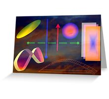 Reality seen through rose glasses Greeting Card