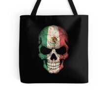 Mexican Flag Skull Tote Bag