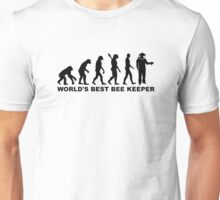 Evolution world's best beekeeper Unisex T-Shirt