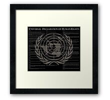 Universal Declaration of Human Rights Framed Print