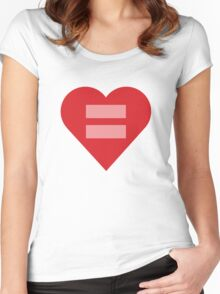 Equal Love Heart Women's Fitted Scoop T-Shirt