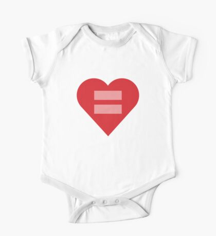 Equal Love Heart One Piece - Short Sleeve