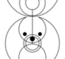 'Good Luck': in circular gallifreyan Sticker