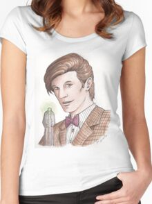 """Eleventh Doctor say """"Geronimo!"""" Women's Fitted Scoop T-Shirt"""