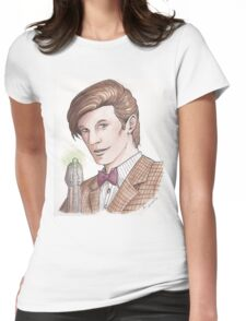 """Eleventh Doctor say """"Geronimo!"""" Womens Fitted T-Shirt"""