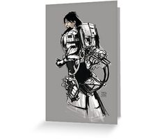 Robot -Girl Greeting Card