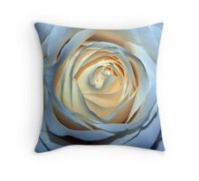 Two-Tone Rose Throw Pillow