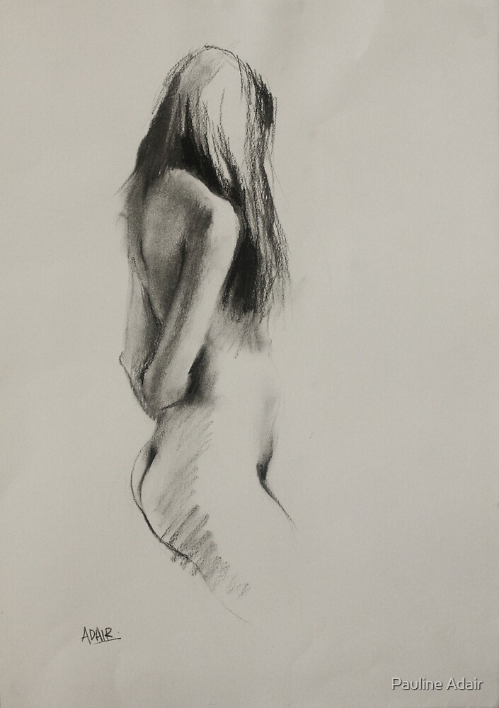 Life Drawing - Charcoal Figure by Pauline Adair