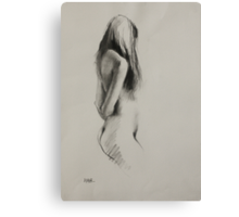 Life Drawing - Charcoal Figure Canvas Print