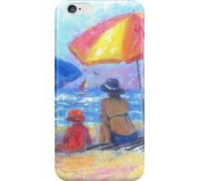 At the Beach With Mom and Grandma iPhone Case/Skin