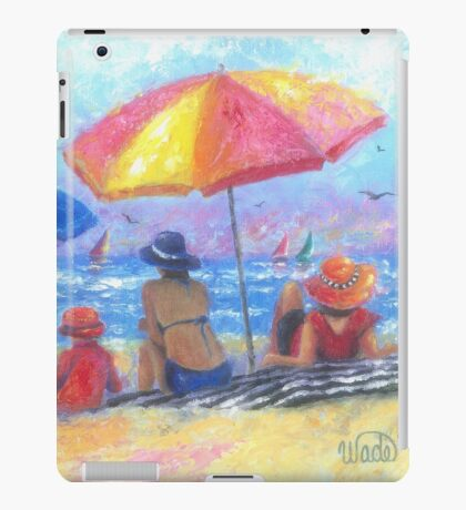 At the Beach With Mom and Grandma iPad Case/Skin