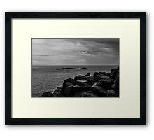 Sky, Sea and Stone Framed Print