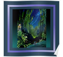 Silent Night in the Forest Scarf Poster