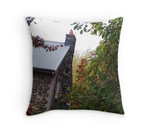 fairytale cottage Throw Pillow