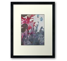 Sea Splotch abstract blue and magenta design watercolor Framed Print