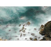 Byron Bay Midnight Ocean Rocks © Vicki Ferrari Photographic Print