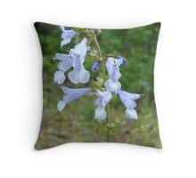 LYRE LEAF SAGE - A BEAUTIFUL FLORIDA WILDFLOWER Throw Pillow