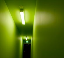 Lime corridor by Claire Haslope