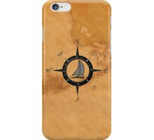 Florida Keys Map Compass iPhone Case/Skin