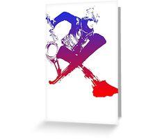 Shulk Super Smash Bros X Final Fantasy Logo (No Name) Greeting Card