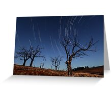 Star Trails Old Adaminaby Greeting Card