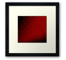 In the dark of red square Framed Print