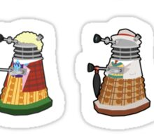 Daleks in Disguise Pattern Sticker