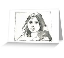 head doodle Greeting Card