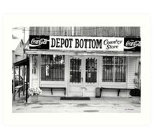 Depot Bottom Country Store ~ McMinnville Tennessee Art Print