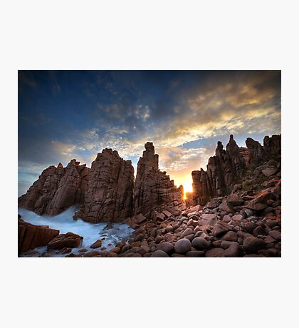 Sunburst at Pinnacles Photographic Print