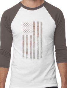 Vintage USA Flag Men's Baseball ¾ T-Shirt