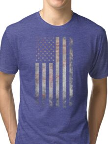 Vintage USA Flag Tri-blend T-Shirt