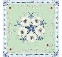 Ranunculus in winter Photographic Print