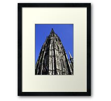 The weight of an arrow Framed Print