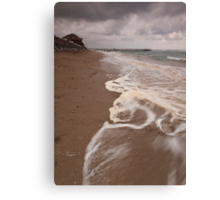 Storm at the Beach Canvas Print