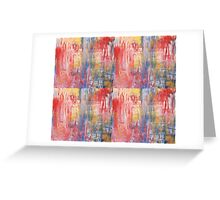 Iced Lights Abstract Greeting Card