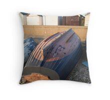 Evening Boats Throw Pillow